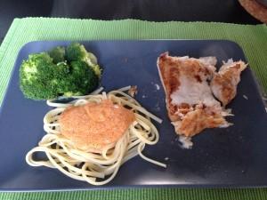 Ik maakt eerste victoriabaars met broccoli en pasta-mascarponesaus. (I know, kan minder vet)